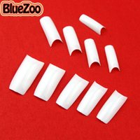 Wholesale BlueZoo Full Cover False Nail Tips Art White Black French Acrylic False French Nail Tips For Diy Nail Art Decoration