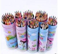 Wholesale Korean version of the color tube color pencil cartoon creative cartoon graffiti color pen non toxic environmental stationery