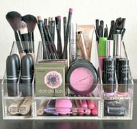 Wholesale Clear acrylic Makeup Organizer Makeup Brush Holder lucite Makeup Organizer Lipstick storage Organizer transparent cosmestic showcase