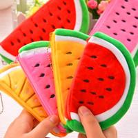 Wholesale Big Volume Watermelon School Kids Pen Pencil Bag Case Gift Pendant Cosmetics Purse Wallet Holder Pouch School Supplies