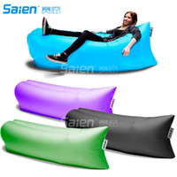 Wholesale 2016 Fast inflatable laybag banana sleeping bag lamzac hangout Air Sofa Camping laybag Beach Sofa Lounger Bed sleeping lazy bag