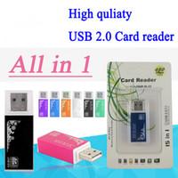 Tout en un Lecteur de cartes Portable Mini Multi Lecteur de carte mémoire Adaptateur Connecteur pour Micro SD MMC SDHC TF M2 Memory Stick