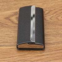 Wholesale Business men and women fashion metal high capacity card case the man card package Brown yellow and khaki
