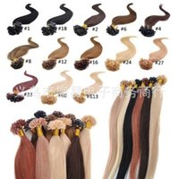 Wholesale hot selling Natural Hair Extensions Keratin Nail Tip U Tip Hair quot quot length First come first served