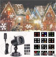 Wholesale 12 Patterns Laser Projector Christmas Laser Snowflake Projector Outdoor LED Waterproof Disco Lights Home Garden Star Light CCA5330