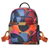 Mochila mochila diseñador mochilas nylon impermeable tela de Oxford y mochila de cuero nueva mochila bolsas de escuela de moda