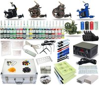 Cheap Complete Tattoo Kit 5 machine Gun Power Supply TK-31 40 Color Inks (black case)