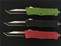 Wholesale Microtech knife combat troodon A161 pocket knife singel blade fine edge Drop point knive hiking hunting folding knife color handle