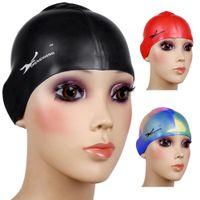 Estiramiento flexible al por mayor del casquillo de natación del silicón que baña los sombreros impermeables duradero