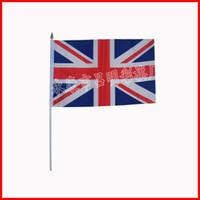 Wholesale 14 cm hand waving nation flag The whole world little flag the United Kingdom flag