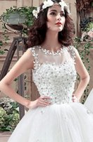 Wholesale Vintage wedding dresses european style show thin dress Lace Tulle drop shipping