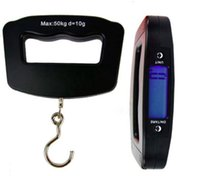 Wholesale Mini Portable Digital Hand Held Kg g Fish Hook Hanging Scale Electronic Weighting Luggage Scale Backlight LED Display