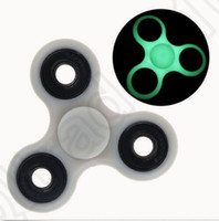 Wholesale EDC Hand Spinner Gray Glow In The Dark Tri Spinner Fidget Desk Toy Decompression Toys OOA1249