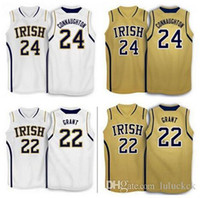 basketball grants - Factory Outlet Pat Connaughton Jerian grant Notre Dame Fighting Irish basketball Jersey Stitched Customized Any Name And Number