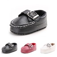 Wholesale Crochet Shoes Baby Prices - High Quality Pu Material Baby Shoes New Design Fashion First Baby Boy Shoes Non-slip Buckle Strap First Walker Factory Price