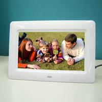 achat en gros de 12 cadre photo numérique-7 / 10.1 / 12/15/17 pouces écran HD LED Cadre photo numérique avec télécommande Support Musique / Vidéo / Ebook / Time / Alarme / Picture Player