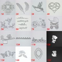 Wholesale 2017 DIY Die Frame Metal Cutting Dies Stencils for DIY Scrapbooking photo album Decorative Embossing DIY Paper Cards Free DHL XL M246