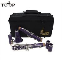 Wholesale ABS Key bB Flat Clarinet Soprano Binocular Clarinet with Cleaning Cloth Gloves Screwdriver Reed Case Woodwind Instrument