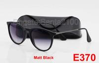 al por mayor protección de la caja negro-1pcs gafas de sol ULTRAVIOLETA de la marca de fábrica del diseñador de las gafas de sol de la manera de la protección de la alta calidad para las mujeres de los hombres lente negra de 52m m del gradiente 52 con la caja y el caso