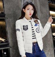 Dans l'hiver de 2016 nouvelles femmes de culture coréenne de coton courte épaisse bâton chapitre vers le bas en coton matelassé veste étudiants