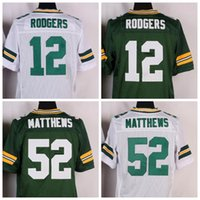 Wholesale Elite Aaron Rodgers Green Football Jersey Stitched Playoffs Jerseys Mens Uniforms Clay Matthews Jordy Nelson Green White Available