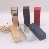 Wholesale Wholesales Colors mm Blank Lip Stick Packing boxes Balck or Red Lip Stick
