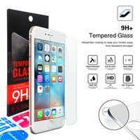 Wholesale 0 MM Layers H D Tempered Glass Screen Protector Explosion Proof Film guard For iphone s Plus Samsung ZTE LG With Retail box