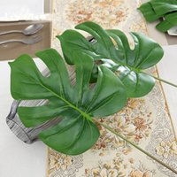 artificial banana leaf - 3Pcs Large Leaf Real Touch Artificial Plant Like Banana Leaf Balcony Decorattion Flower Basket Accessories