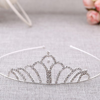 Wholesale The Korean version of women s jewelry classic bride headdress elegant Beaded crown headband perfect curveEurope and the United States