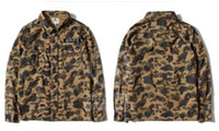 Wholesale High quality Camouflage cotton jacket long sleeve shirt for m reflective male slim outerwear