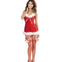 adult butterfly costumes - 2016 Winter Women Party Club Red Christmas Costumes Sexy Butterfly Christmas Costume Adult New Year Clothes LC7199