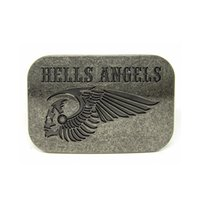 Wholesale Hells Angels Skull Biker Motorcycle Belt Buckle