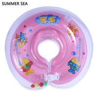 Wholesale 1 Months children Infant Swimming Neck Float Donut Pool Floats For Baby Swim Life Buoy Cycle Swim Tube Ring Float Collar With Gripper