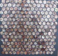 Wholesale 20mm Antique Brown Geometric MOP Shell Mosaic Tiles Backsplash