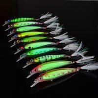 11.5cm 13.4g appât de pêche un attirail Set laser classique 10 choix de couleurs minow attirail de pêche au leurre pour les sports de plein air