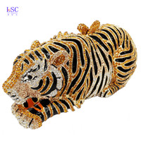 None animal cocktails - LaiSC Animal Tiger Luxury Crystal Evening Bag Leopard Cocktail Party Purse Handbags Women Clutch bags Purse SC030