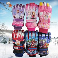 Wholesale New Kids Outdoor gloves Kids Riding gloves Non slip Winter Keep warm Wind proof nylon Kids waterproof gloves B0992