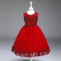 al por mayor modelos de vestido de fiesta de niña-Vestido formal de la boda del bebé del vestido de boda para la ropa del vestido del bautismo del partido del niño