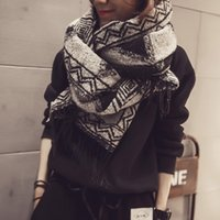 Wholesale South Korea grid imitation cashmere scarf shawl in the fall and winter of female ethical wind amphibious students upset knitting wool scarf