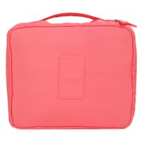 Cheap Wholesale-Professional Floral Casual Nylon Zipper Makeup Cosmetic bag Case Make Up Organizer Toiletry Storage Travel Container Tool Set