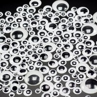 Wholesale 1000pcs MM D Self adhesive Activities Moving Eyes Plastic Wiggling Eyes For Kids DIY Toys or Doll Toy Accessories
