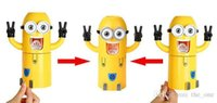 Wholesale Hottest Cute Despicable Me Minions Design Set Cartoon Toothbrush Holder Automatic Toothpaste Dispenser with Brush Cup