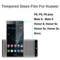 Écrans huawei Prix-9H Film de verre trempé Protecteur d'écran antidéflagrant pour Huawei P8 P9 plus Mate 8 9 Honor 8 5c 5x nova shippin gratuit