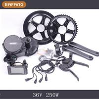 Wholesale 36v w Bafang un Motor C961 LCD BBS01 Latest Controller Crank Motor Eletric Bicycles Trike Ebike Kits Fedex Shipping