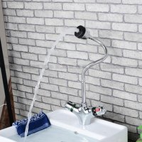 Wholesale brass chrome washbasin taps Thermostatic faucets chrome kitchen faucet