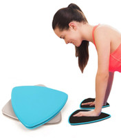 Wholesale 1 pair Fitness Gliders Gym Slider Workout Discs Core Ab Exercise Gym Training Slimming Abdominal Equipment Fitness Slide Discs