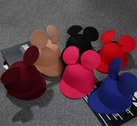 Wholesale Mickey hat children baby general Korean tide Mickey Mouse Ears hat six colors duck tongue wool hat