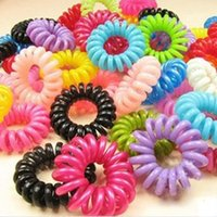 Wholesale Mulit color Telephone Wire Cord Girl Elastic Head Tie Hair Rope Hair Accessories Hair Styling Tools