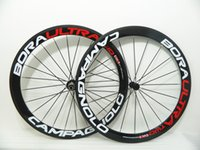 Wholesale Red White logo Bora Ultra Two mm carbon bike Wheels with mm width bora mm road bike carbon wheels