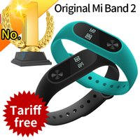 Wholesale In Stock Original Xiaomi Mi Band Miband Band2 Wristband Bracelet with Smart Heart Rate Fitness Touchpad OLED